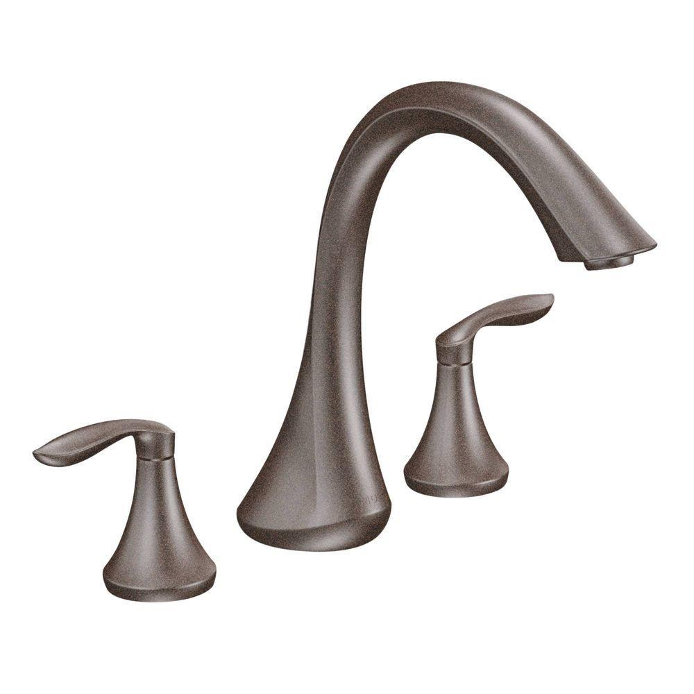 Ideas, moen traditional tub faucet moen traditional tub faucet moen eva 2 handle deck mount roman tub faucet trim kit in oil 1000 x 1000  .