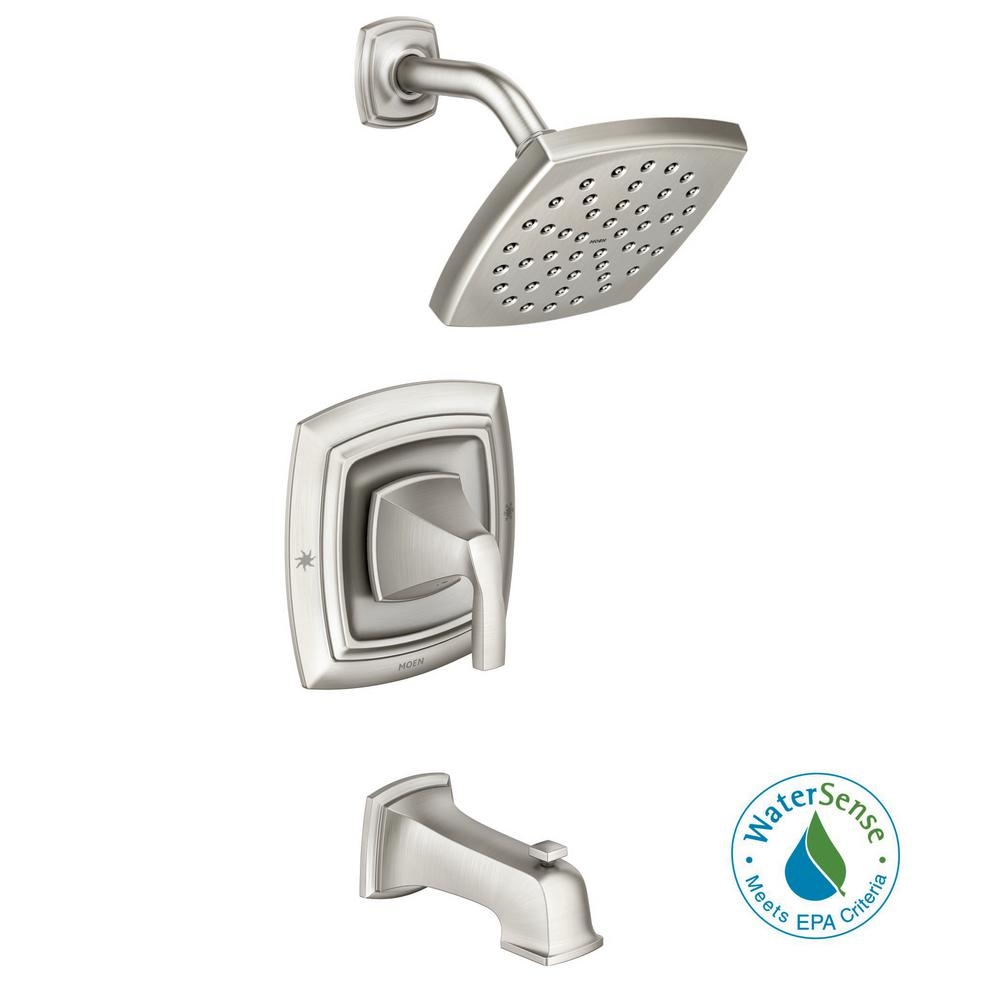 Ideas, moen tub and shower faucet sets moen tub and shower faucet sets moen hensley single handle wall mount tub and shower faucet with 1000 x 1000  .