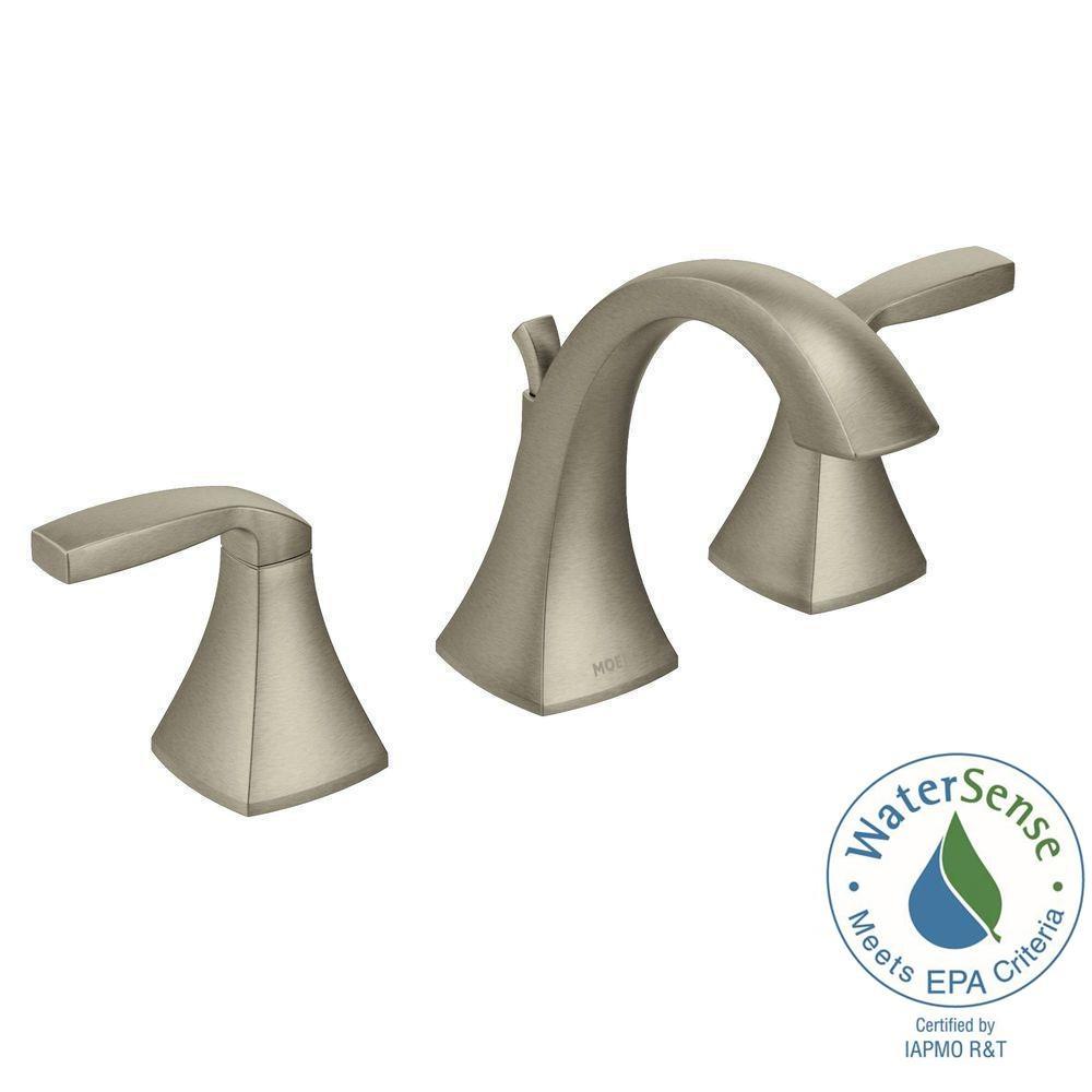 Ideas, moen voss 8 in widespread 2 handle high arc bathroom faucet trim throughout dimensions 1000 x 1000  .