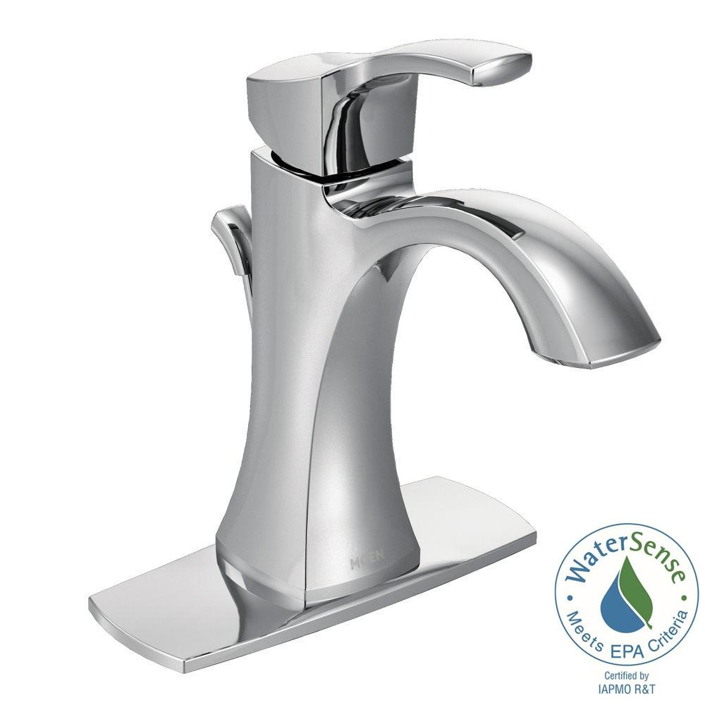 Ideas, moen voss single hole single handle high arc bathroom faucet in for dimensions 1000 x 1000  .