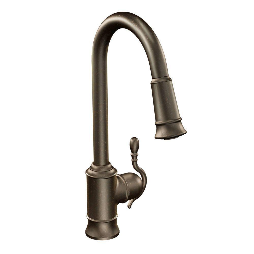 Ideas, moen woodmere single handle pull down sprayer kitchen faucet regarding dimensions 1000 x 1000  .
