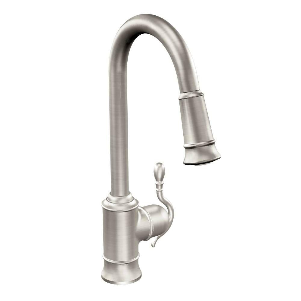 Ideas, moen woodmere single handle pull down sprayer kitchen faucet with regard to size 1000 x 1000  .