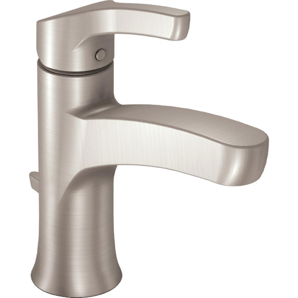 Ideas, moen wsl84733srn danika spot resist brushed nickel one handle intended for measurements 1000 x 1000  .