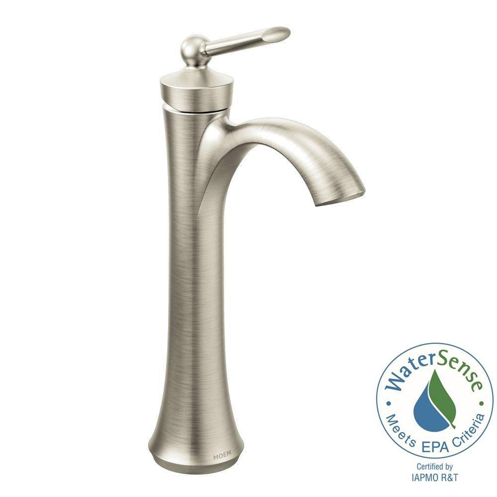 Ideas, moen wynford single hole single handle vessel bathroom faucet in throughout measurements 1000 x 1000  .
