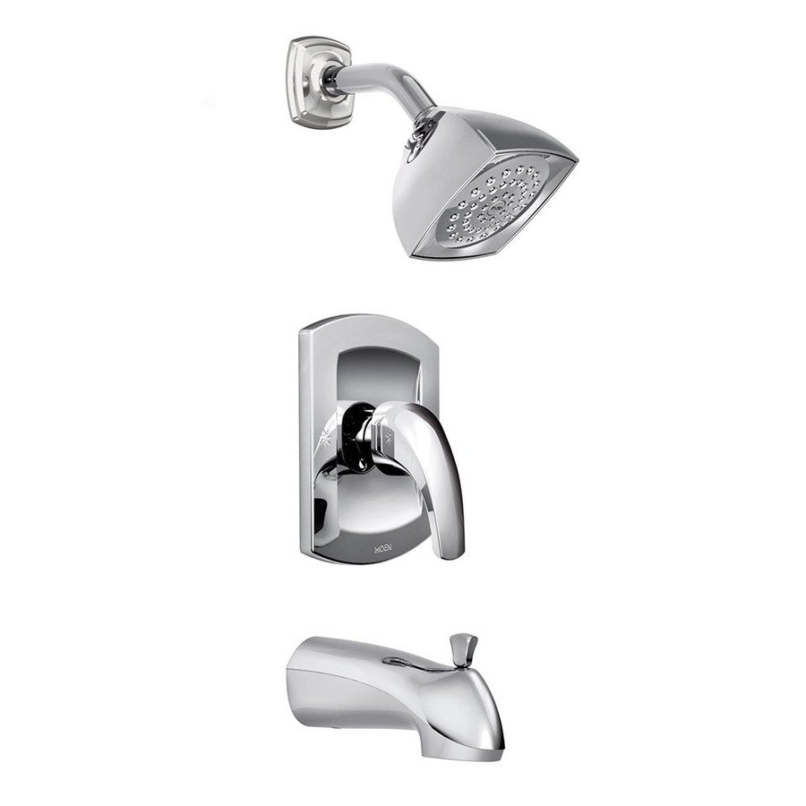 Ideas, moen zarina chrome 1 handle watersense tub and shower valve in proportions 900 x 900  .