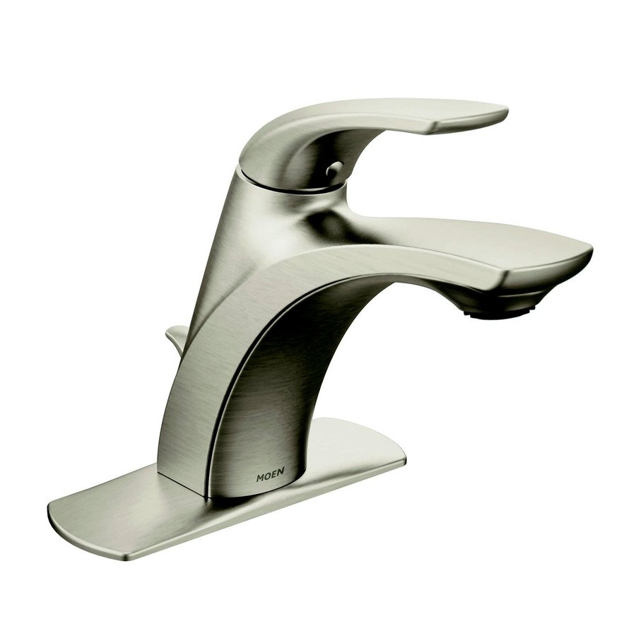 Ideas, moen zarina spot resist brushed nickel 1 handle single hole4 in pertaining to dimensions 900 x 900  .