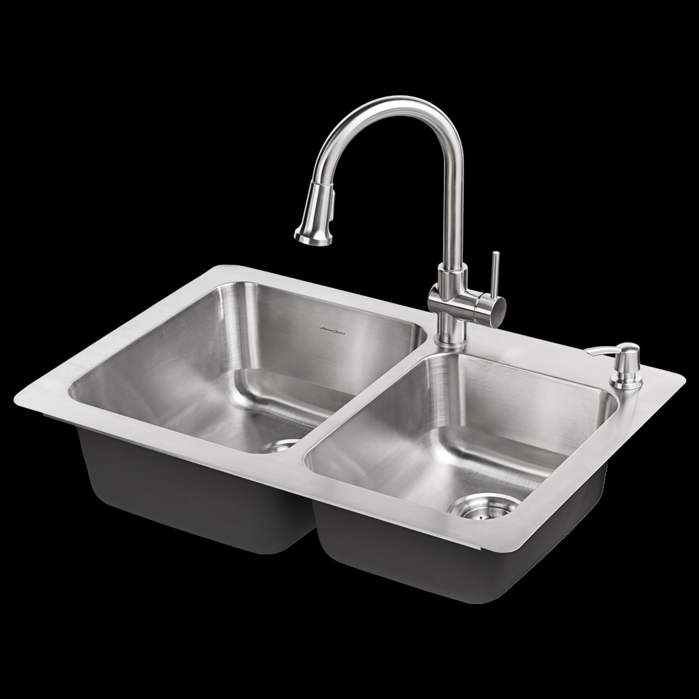 montvale 33 x 22 kitchen sink with faucet american standard regarding dimensions 1000 x 1000