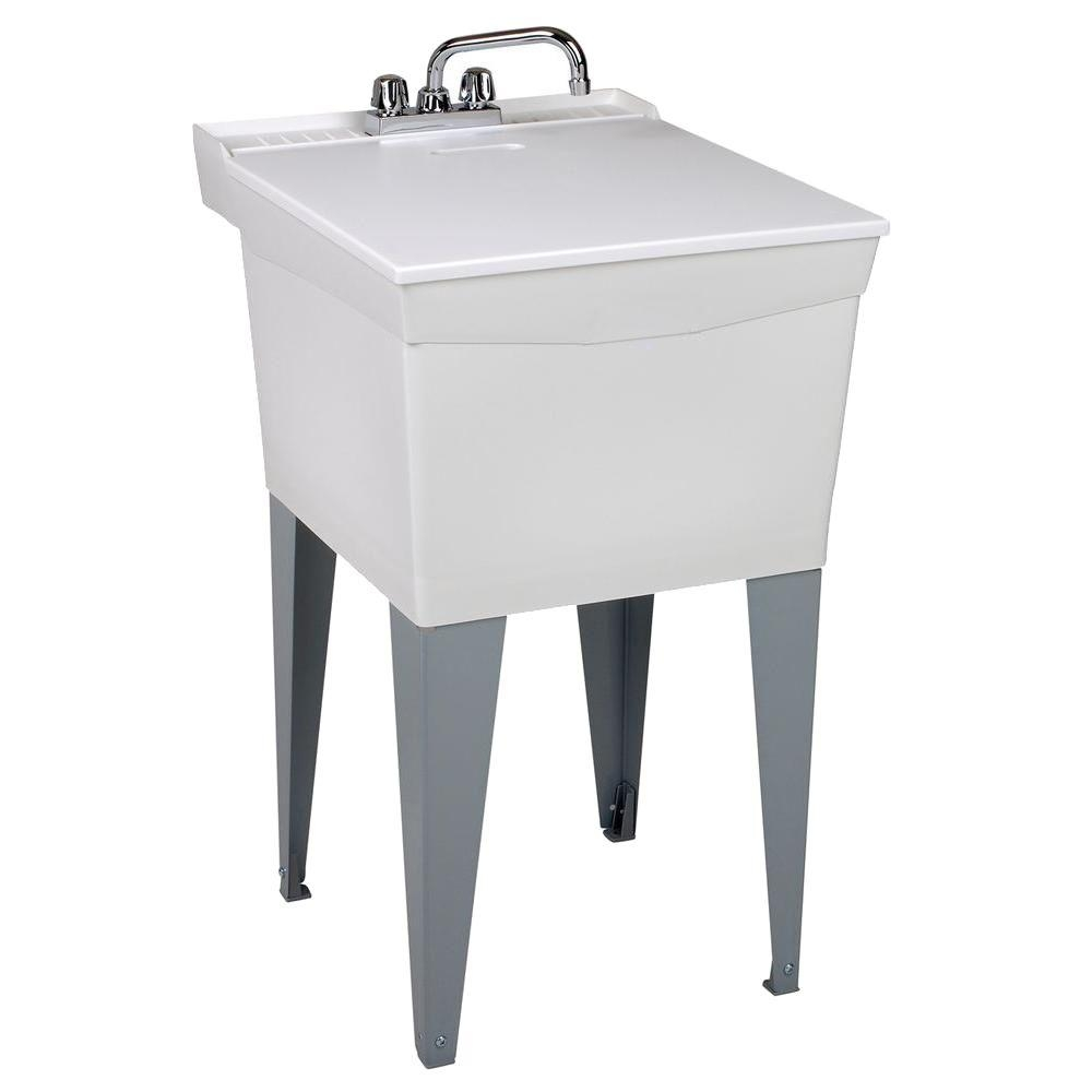 Ideas, mustee 20 in x 24 in plastic floor mount laundry tub 19cft the with dimensions 1000 x 1000  .