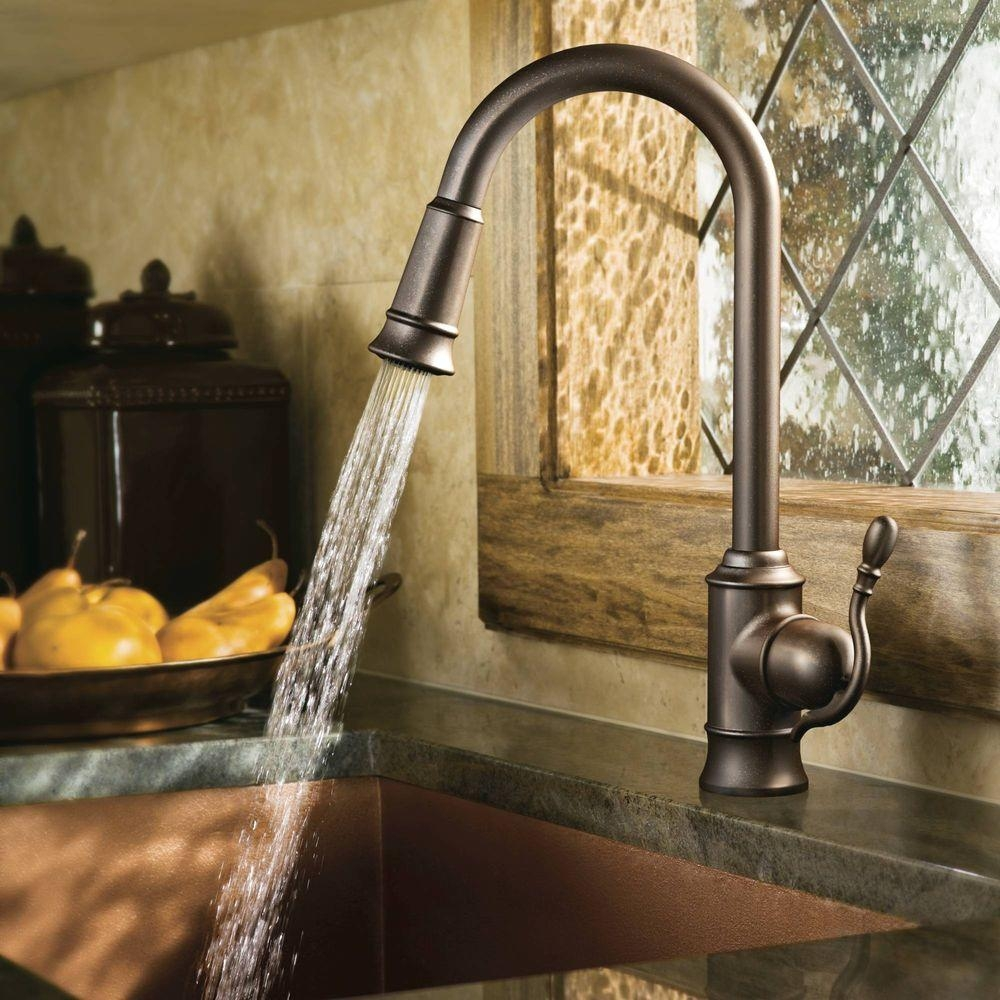 Oiled Bronze Faucet With Stainless Steel Sink
