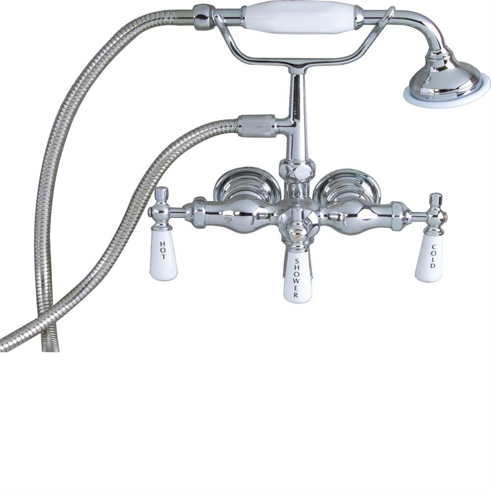 Ideas, old fashioned tub faucets old fashioned tub faucets pegasus 3 handle claw foot tub faucet with old style spigot and 1000 x 1000  .