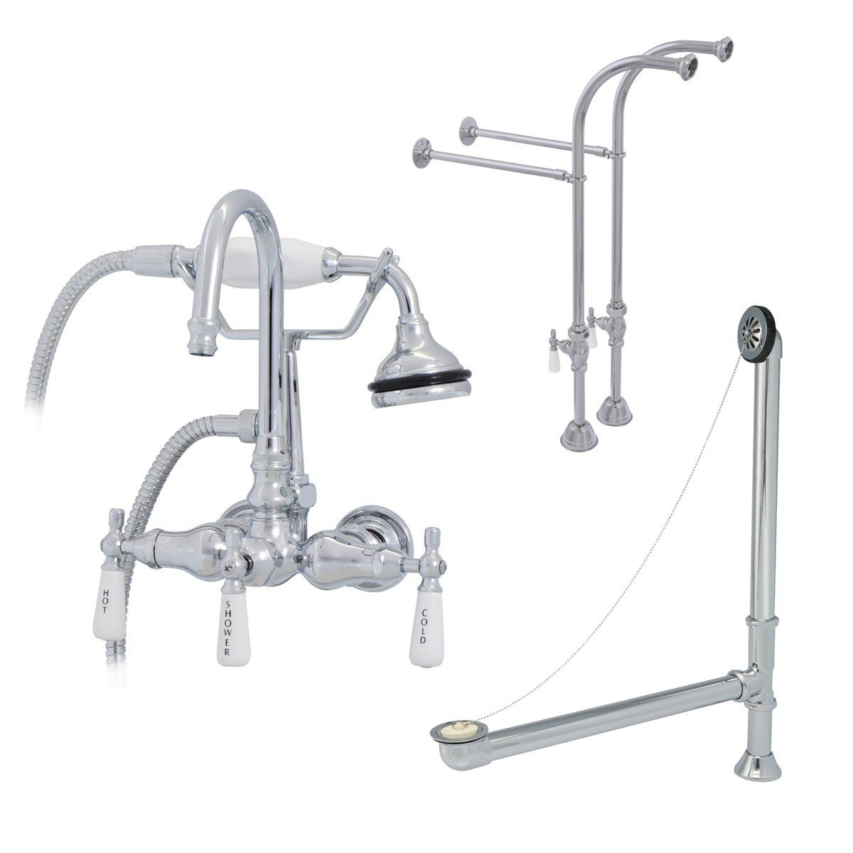 Ideas, old fashioned tub faucets old fashioned tub faucets randolph morris clawfoot tub freestanding gooseneck faucet drain 1200 x 1200  .