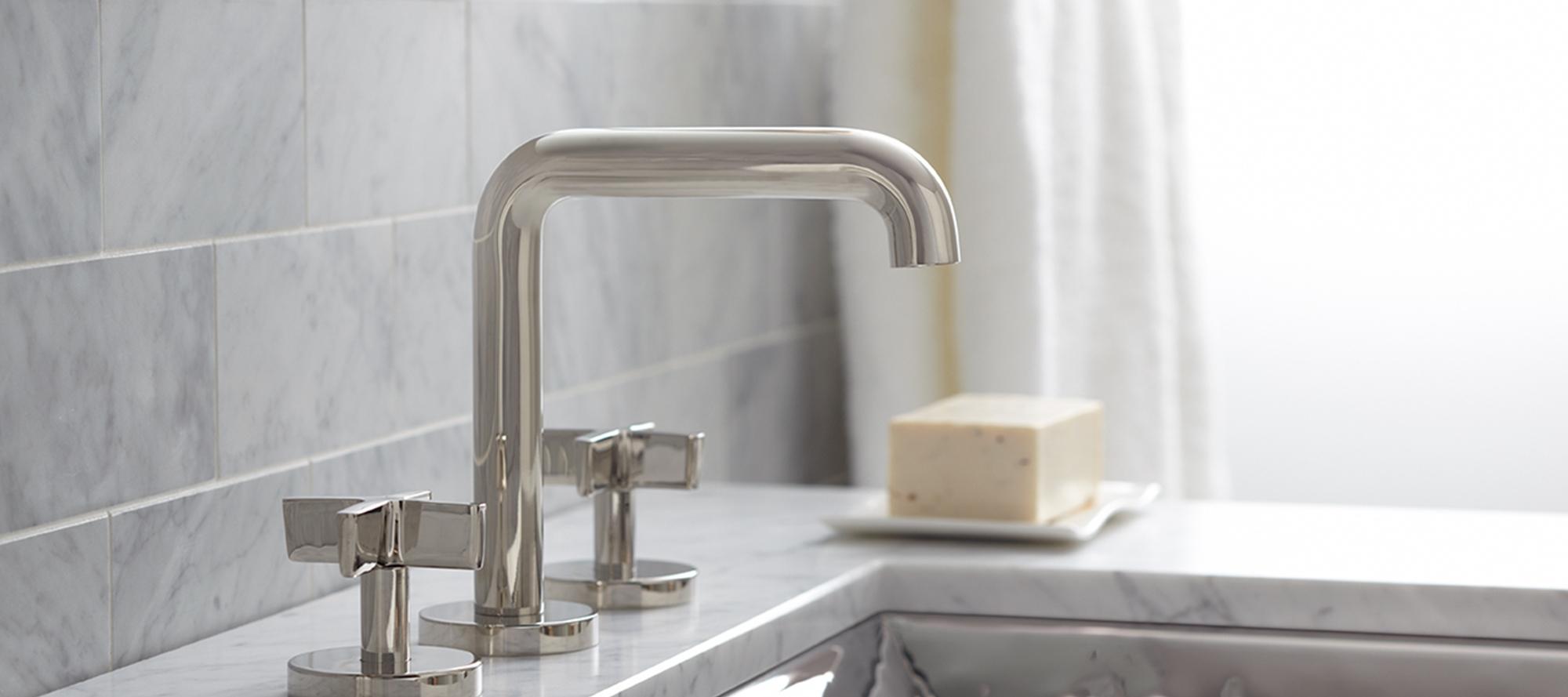 Ideas, one sink faucet low spout cross handles p24491 cr faucets pertaining to measurements 2000 x 889  .