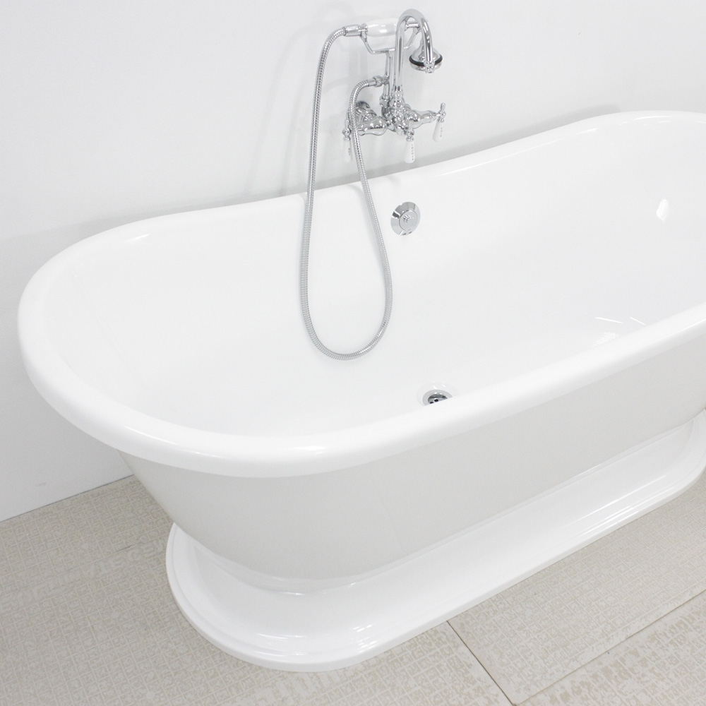 Ideas, pedestal tub faucet package pedestal tub faucet package hlbtpd59fpk 59 hotel collection french bateau pedestal tub and 1000 x 1000  .