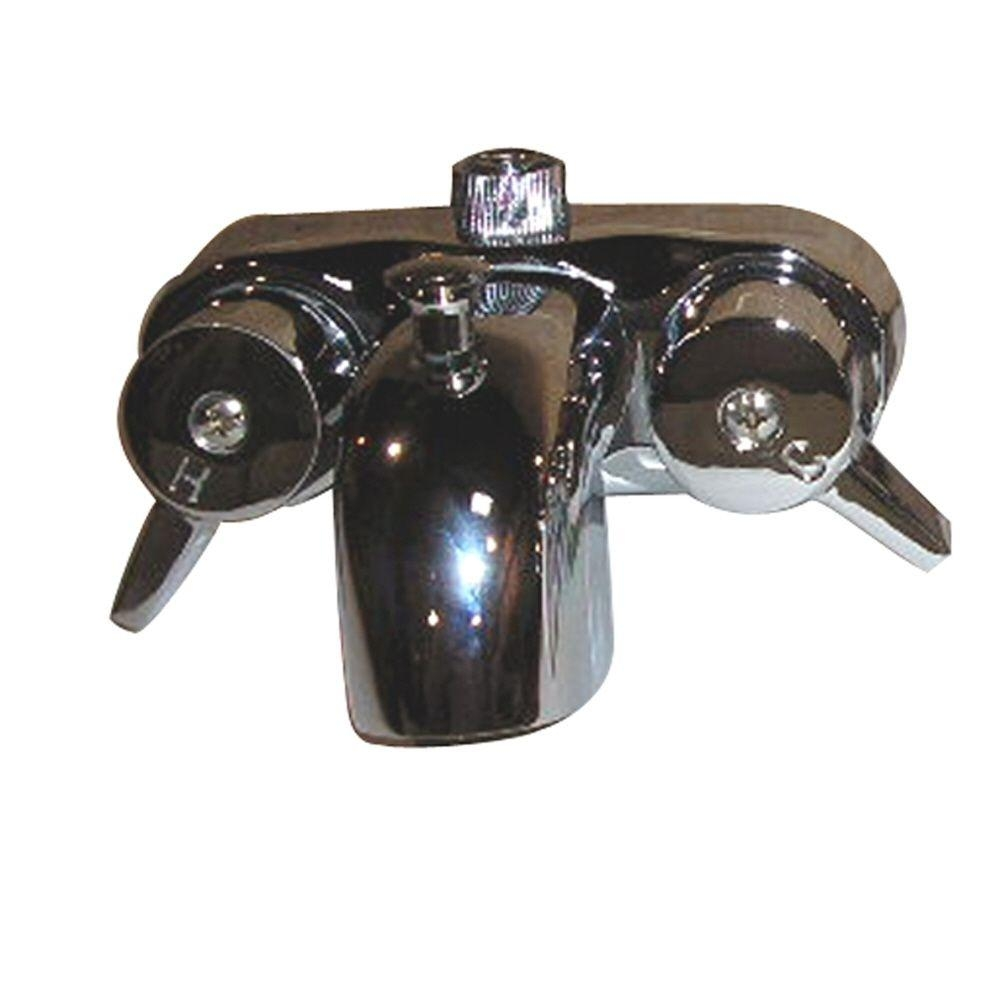 Ideas, pegasus 2 handle claw foot tub faucet in polished chrome 195 s cp inside sizing 1000 x 1000  .