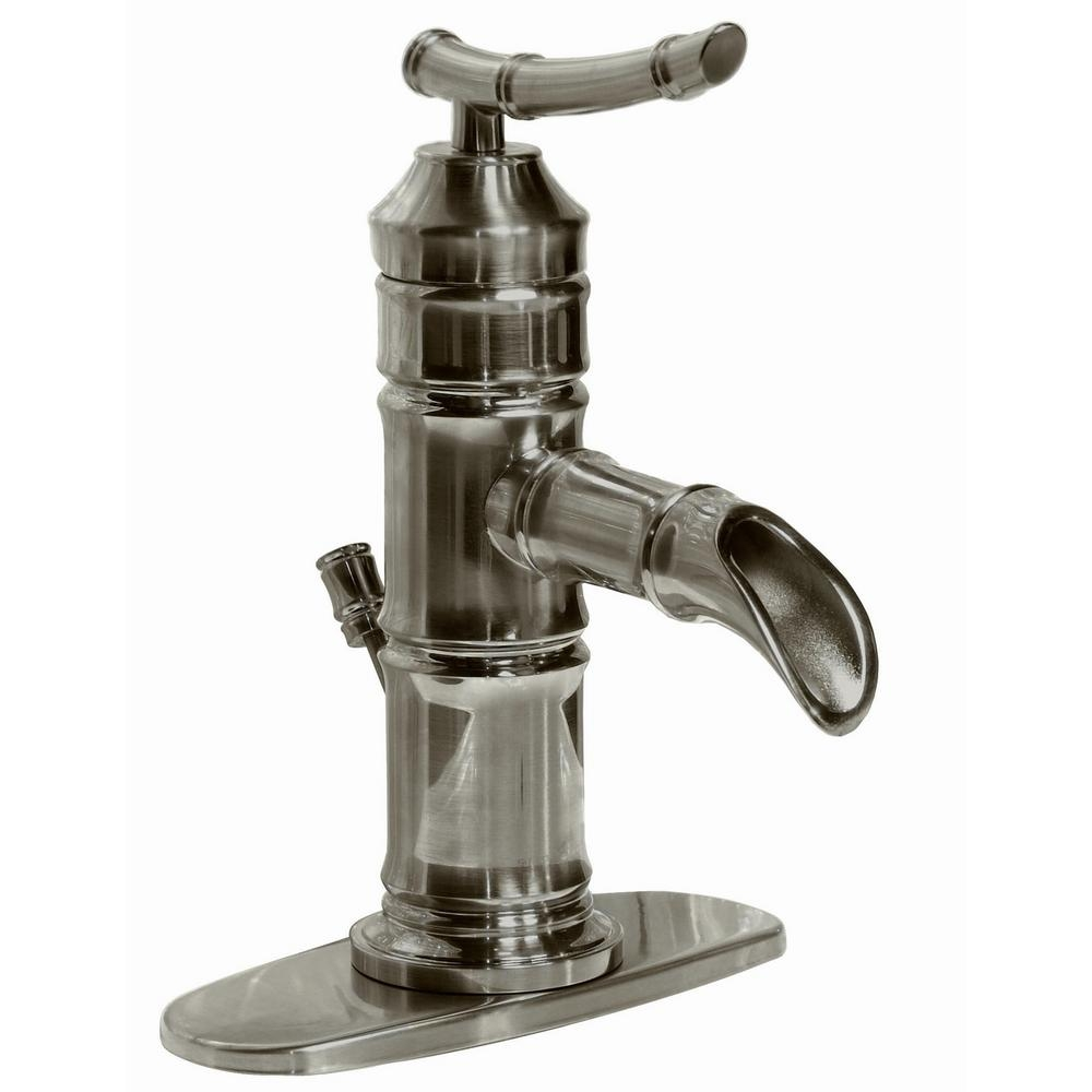 pegasus bamboo 4 in centerset 1 handle bathroom faucet in brushed with regard to size 1000 x 1000