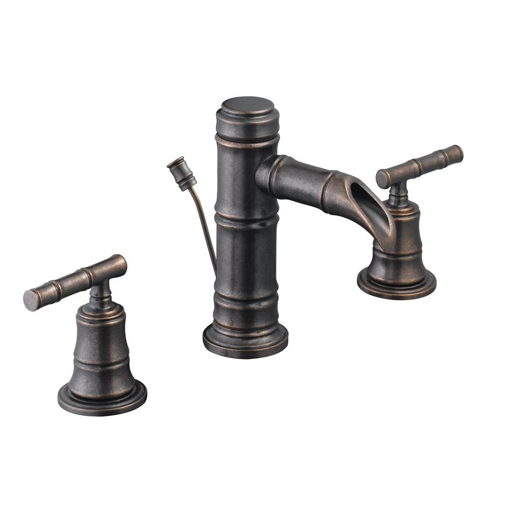pegasus bamboo 8 in widespread 2 handle low arc bathroom faucet with regard to size 1000 x 1000