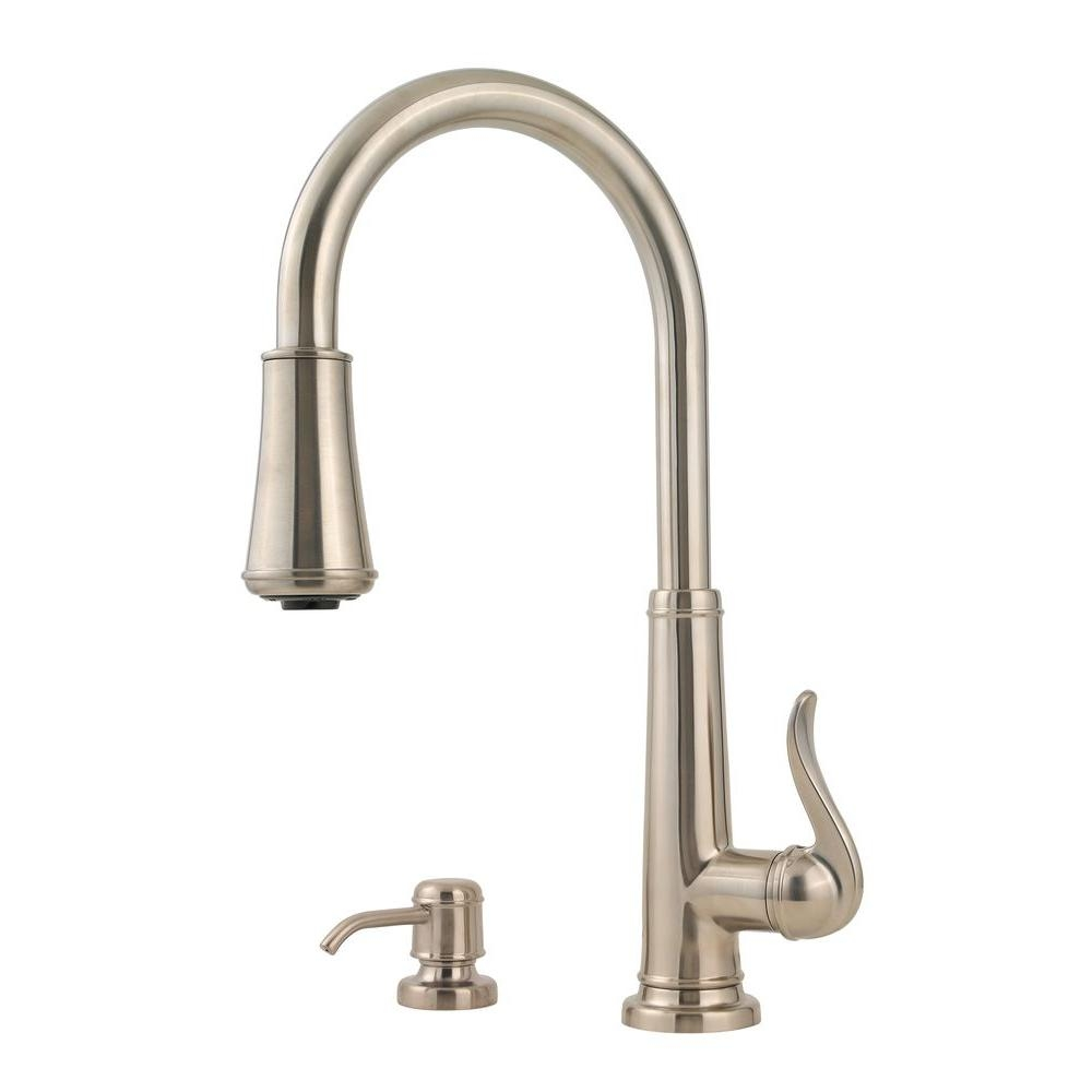pfister ashfield single handle pull down sprayer kitchen faucet in inside proportions 1000 x 1000