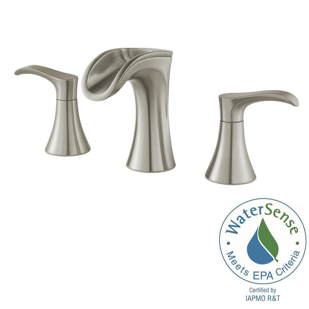 Ideas, pfister brea 8 in widespread 2 handle waterfall bathroom faucet regarding sizing 1000 x 1000  .