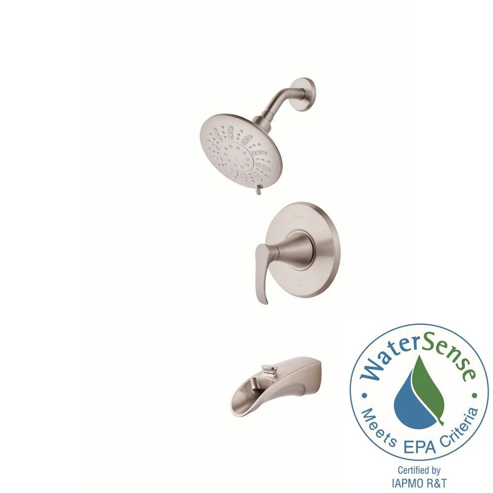 Ideas, pfister brea single handle 3 spray tub and shower faucet in throughout proportions 1000 x 1000  .