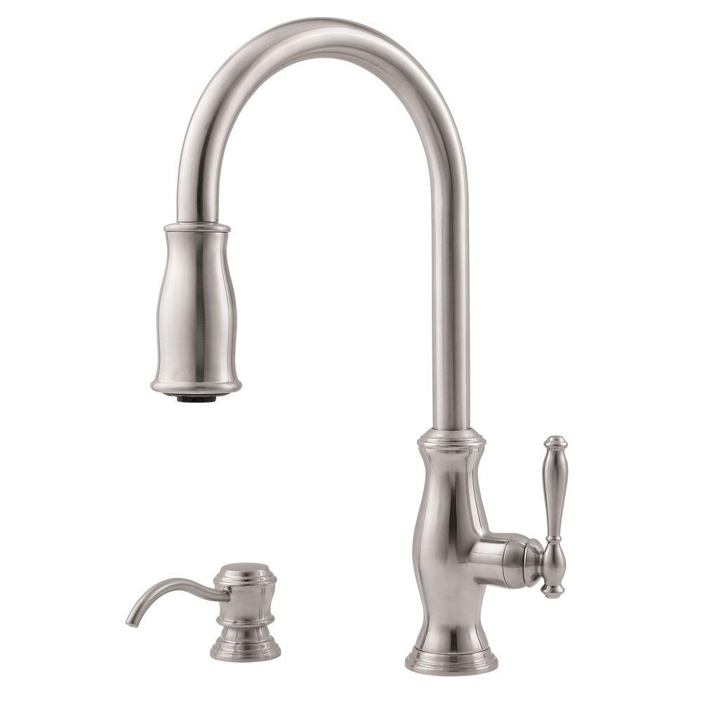 pfister parisa 1 handle pull out kitchen faucet pfister parisa 1 handle pull out kitchen faucet pfister parisa single handle pull out sprayer kitchen faucet in 1000 x 1000 2