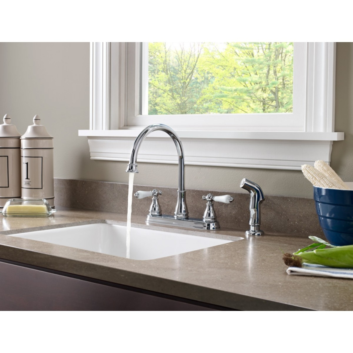 Ideas, pfister sonterra two handle widespread lead free kitchen faucet within size 1200 x 1200  .