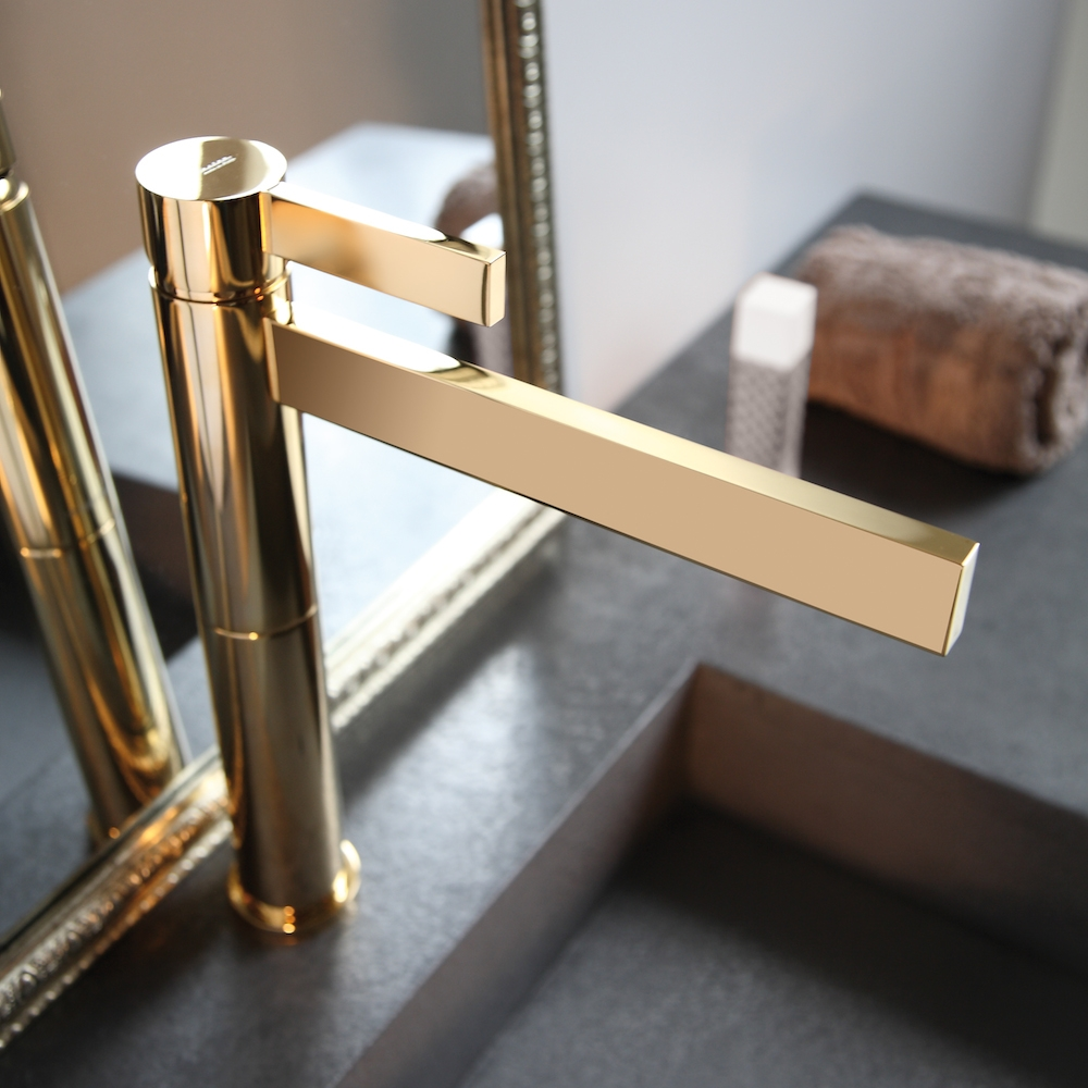 Ideas, polished gold waterfall bathroom faucet with regard to size 1000 x 1000  .