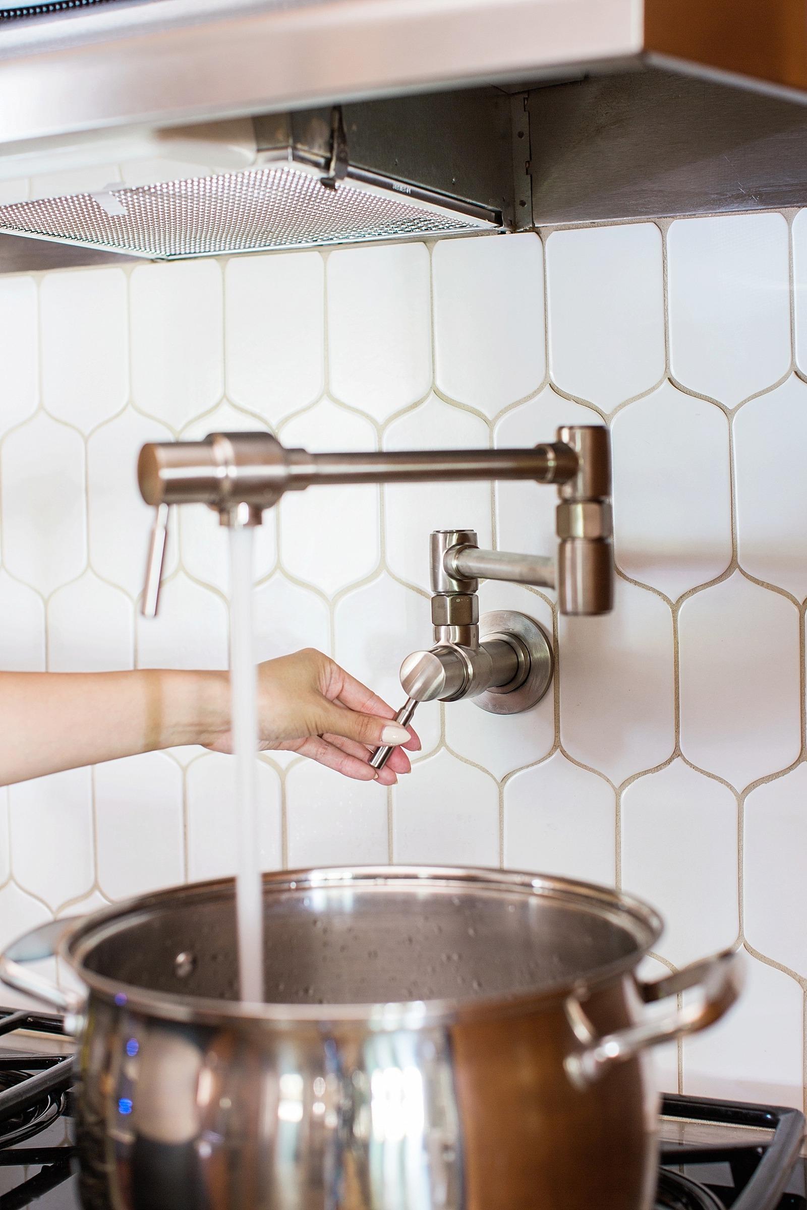 Ideas, pot filler faucet height pot filler faucet height kitchen pot filler positioning install diana elizabeth 1600 x 2400  .