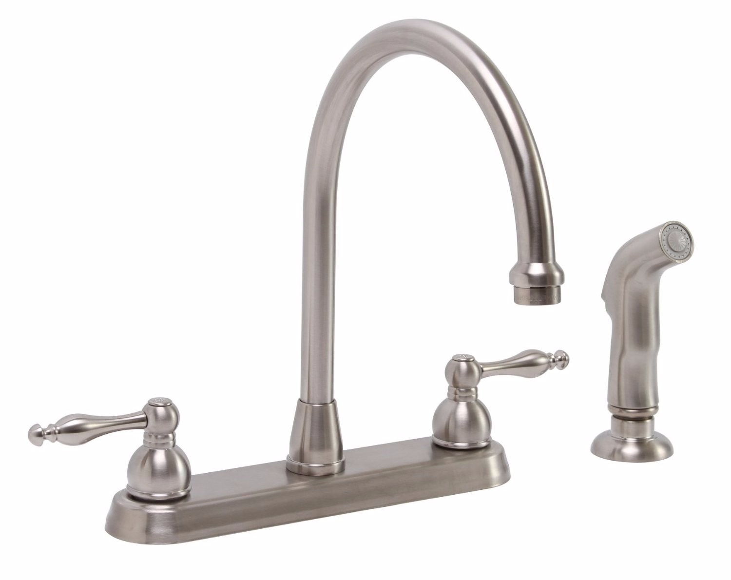 Ideas, premier brushed nickel kitchen faucet with sprayer premier brushed nickel kitchen faucet with sprayer premier 119262 wellington two handle kitchen faucets pvd brushed 1500 x 1190 jpeg.