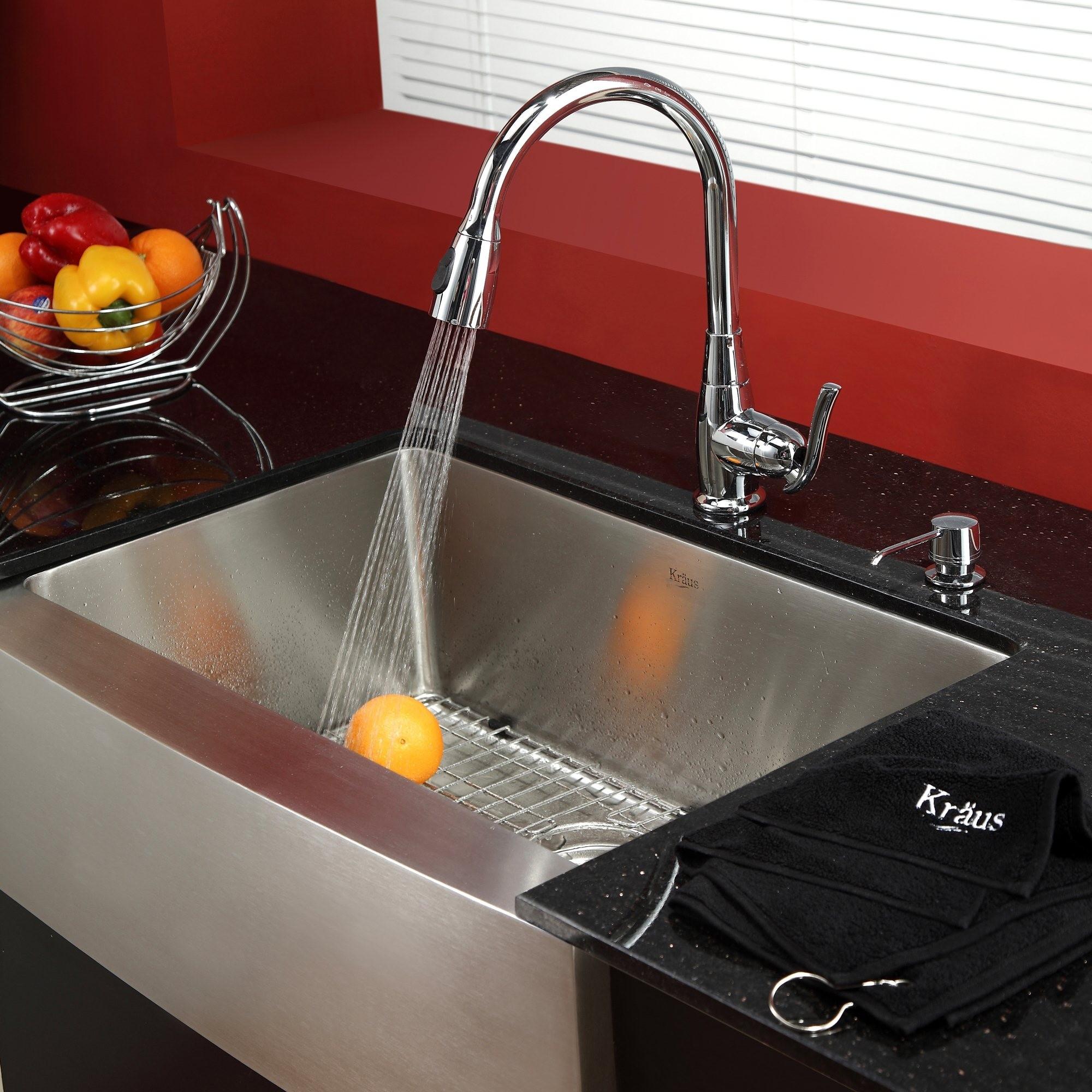 Ideas, red kitchen sink faucets red kitchen sink faucets stainless steel kitchen sink combination kraususa 2000 x 2000 1  .