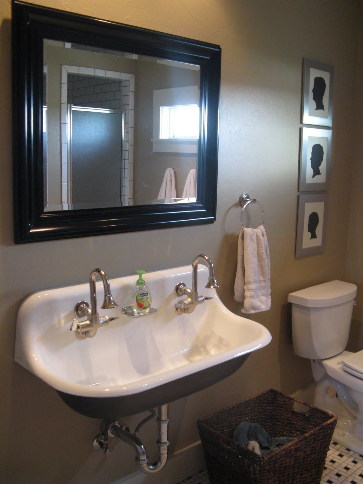Ideas, remodeling a trough bathroom sink with two faucets free designs intended for measurements 1200 x 1600  .