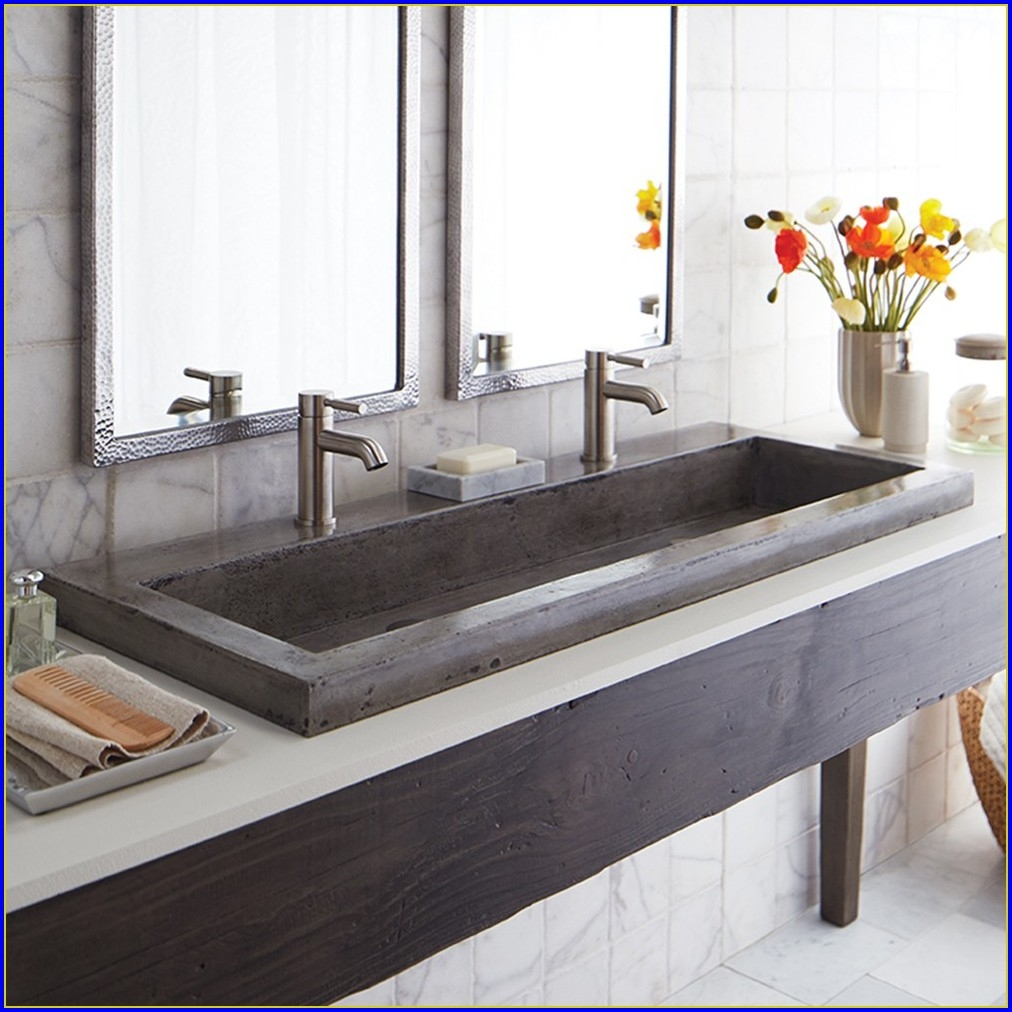 Ideas, remodeling a trough bathroom sink with two faucets free designs with measurements 1012 x 1012  .