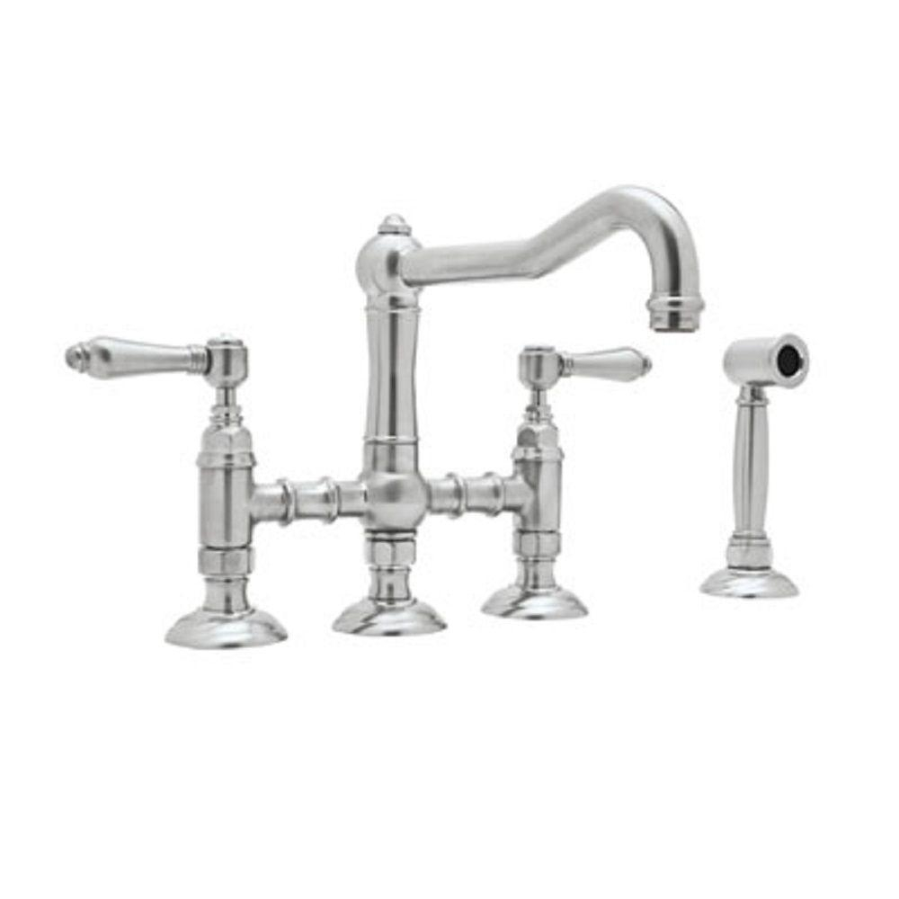 Ideas, rohl wall mount bridge faucet rohl wall mount bridge faucet rohl country 2 handle bridge kitchen faucet with side sprayer in 1000 x 1000  .