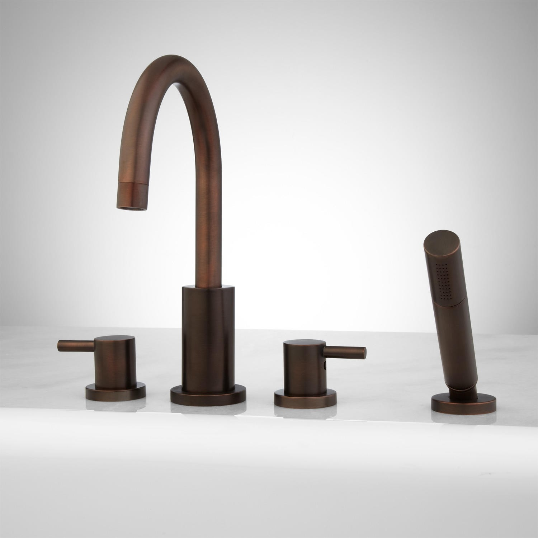 Ideas, rotunda roman tub shower set 4 with curved single hole faucet regarding measurements 1500 x 1500  .