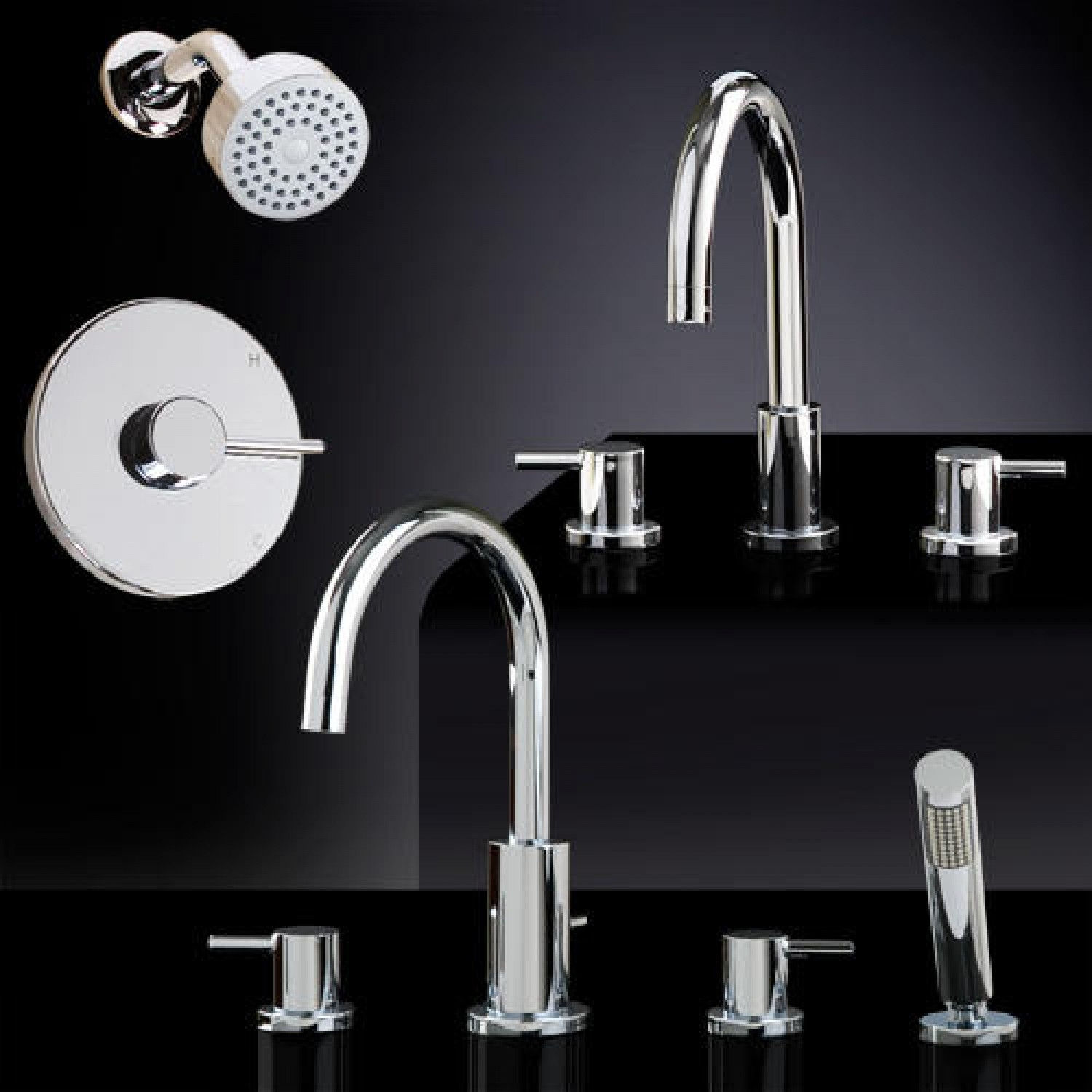 Ideas, rotunda tub shower set 1 with widespread sink faucet bathroom within size 1500 x 1500  .