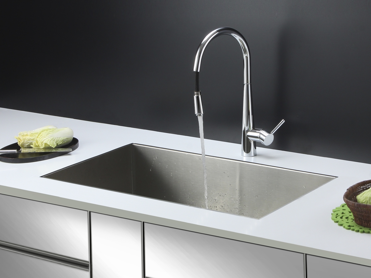 Ideas, ruvati rvc2602 stainless steel kitchen sink and chrome faucet set within size 1200 x 900  .