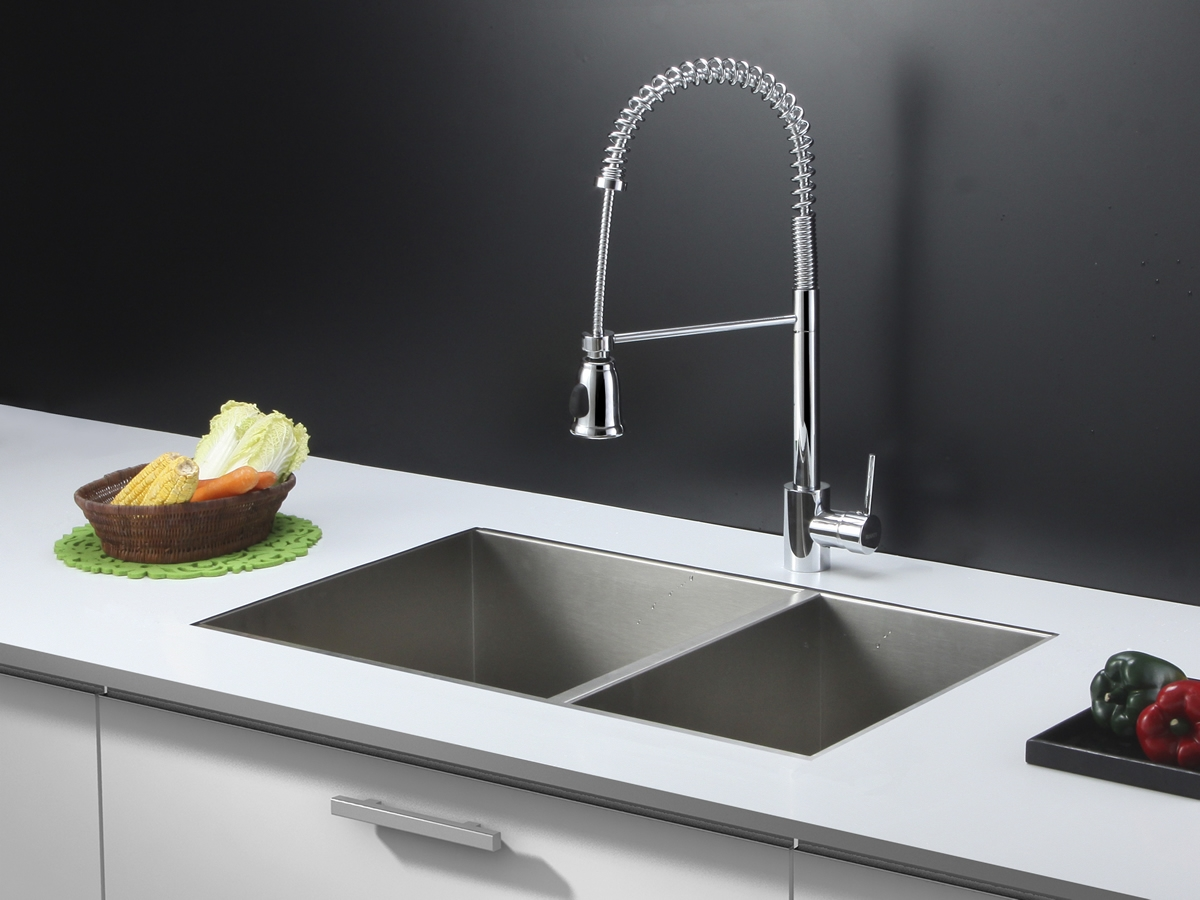 ruvati rvc2616 stainless steel kitchen sink and chrome faucet set with dimensions 1200 x 900