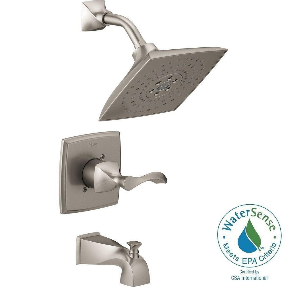 shower head faucet and tub combos shower head faucet and tub combos delta everly h2okinetic single handle 3 spray tub and shower 1000 x 1000