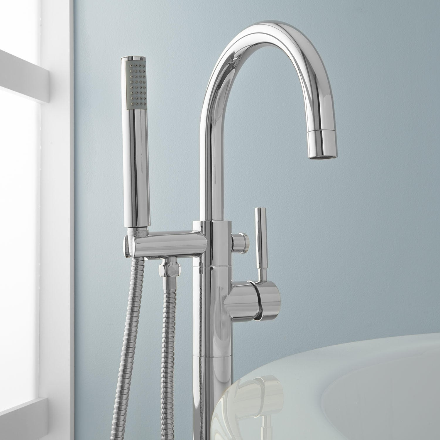 simoni freestanding tub faucet and hand shower bathroom intended for proportions 1500 x 1500