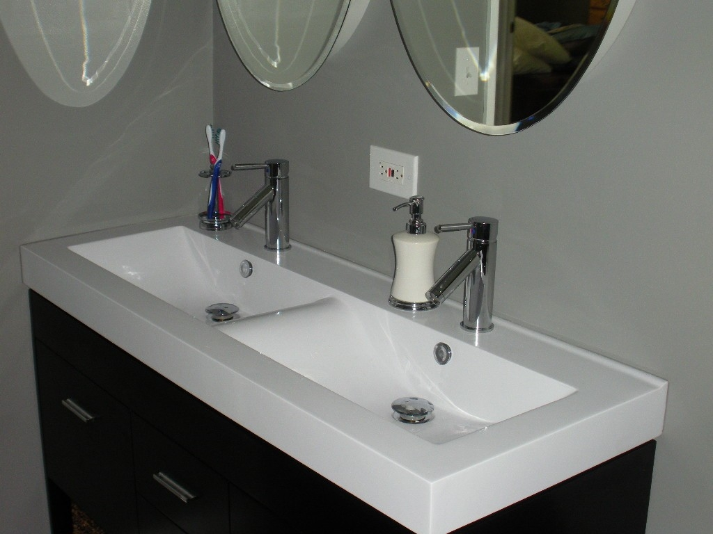 Ideas, single basin bathroom sink with two faucets single basin bathroom sink with two faucets bathroom charming double trough sink for best bathroom sink 1024 x 768  .