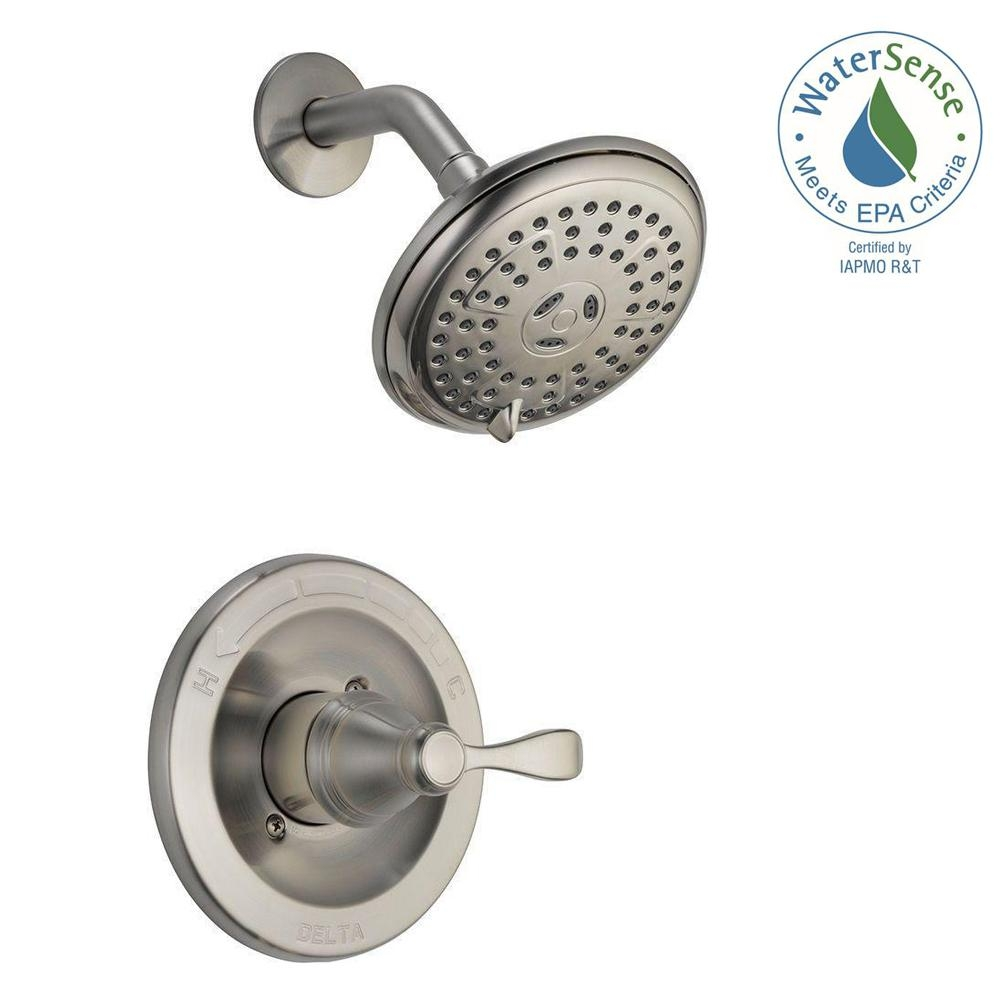 Ideas, single handle shower faucet single handle shower faucet delta porter single handle 3 spray shower faucet in brushed nickel 1000 x 1000  .