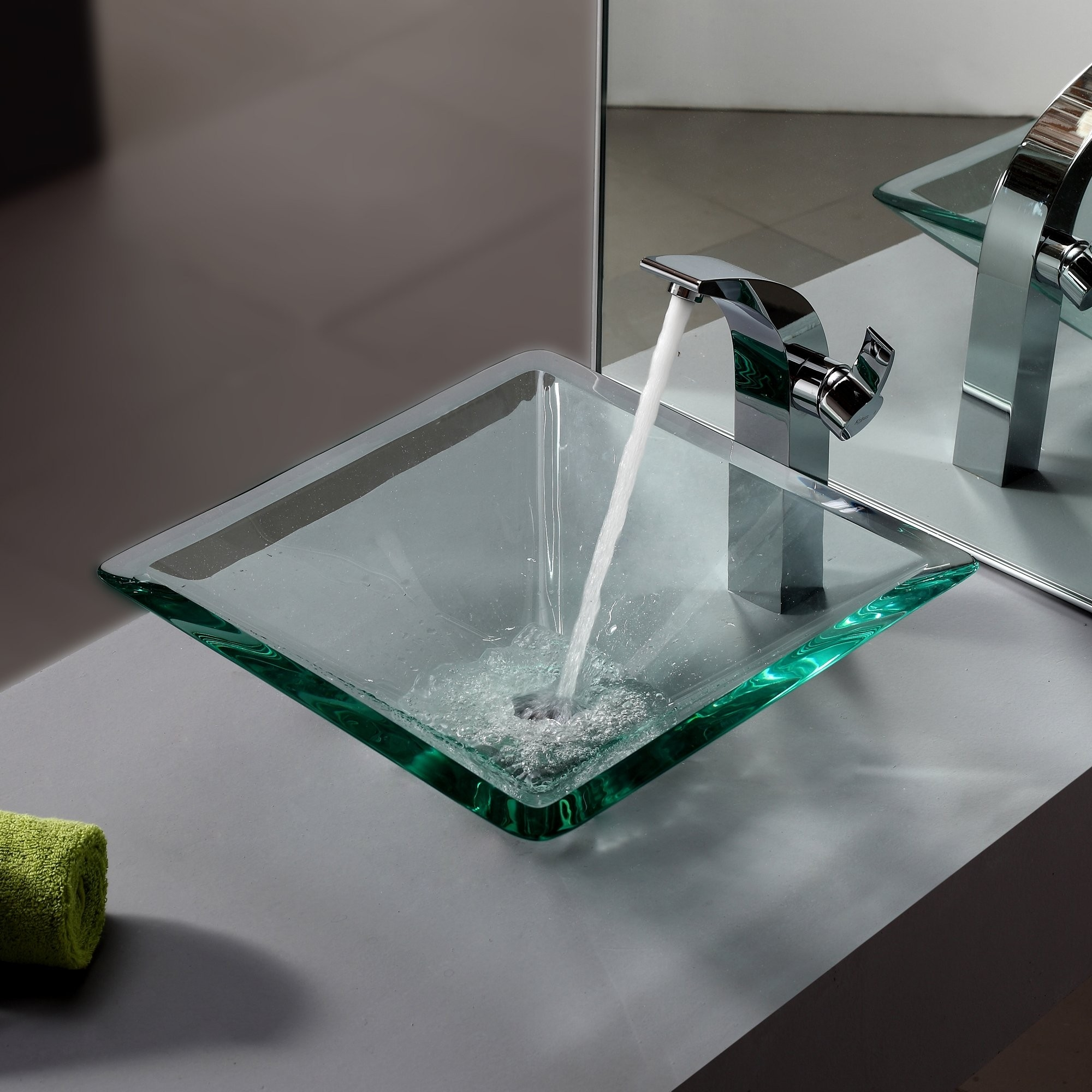 Ideas, square vessel sinks with faucets square vessel sinks with faucets bathroom glass vessel sink and faucet combination kraususa 2000 x 2000 1  .