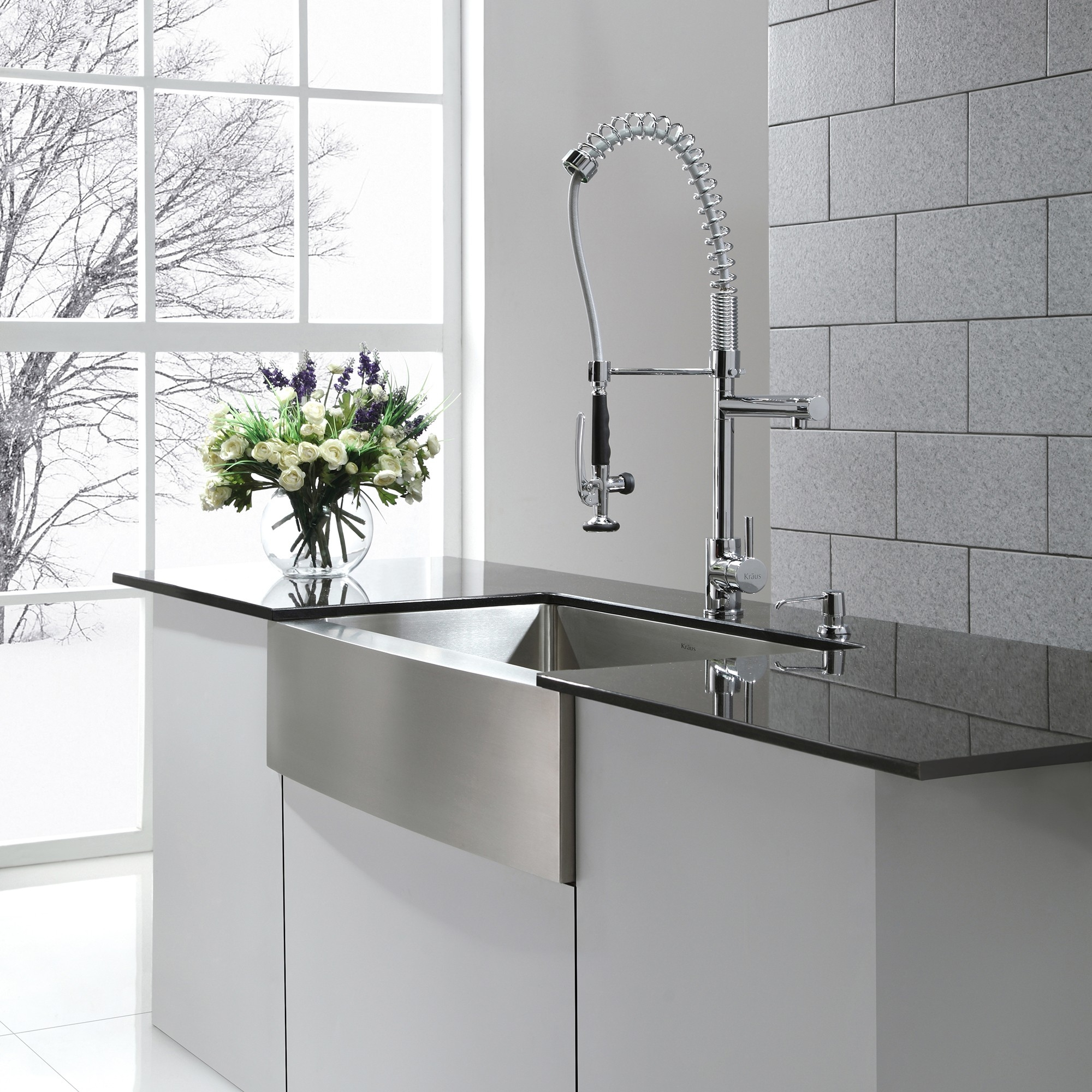 stainless steel farmhouse sink with faucet holes stainless steel farmhouse sink with faucet holes stainless steel kitchen sink combination kraususa 2000 x 2000