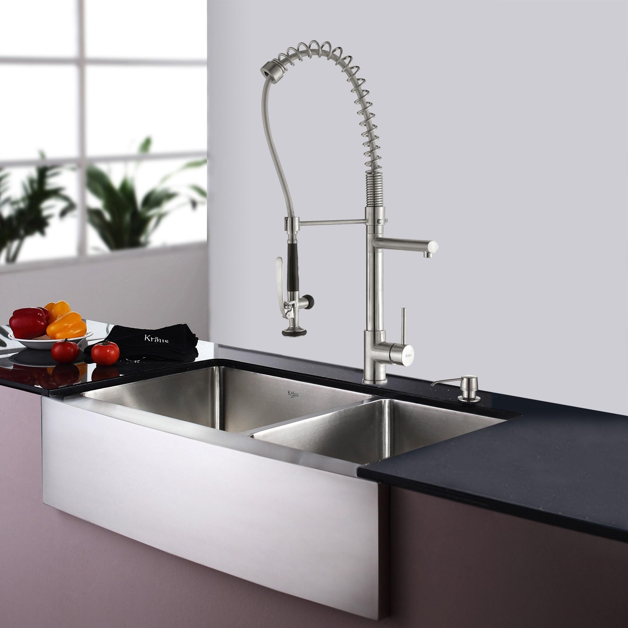 Ideas, stainless steel kitchen sink combination kraususa inside size 2000 x 1999  .