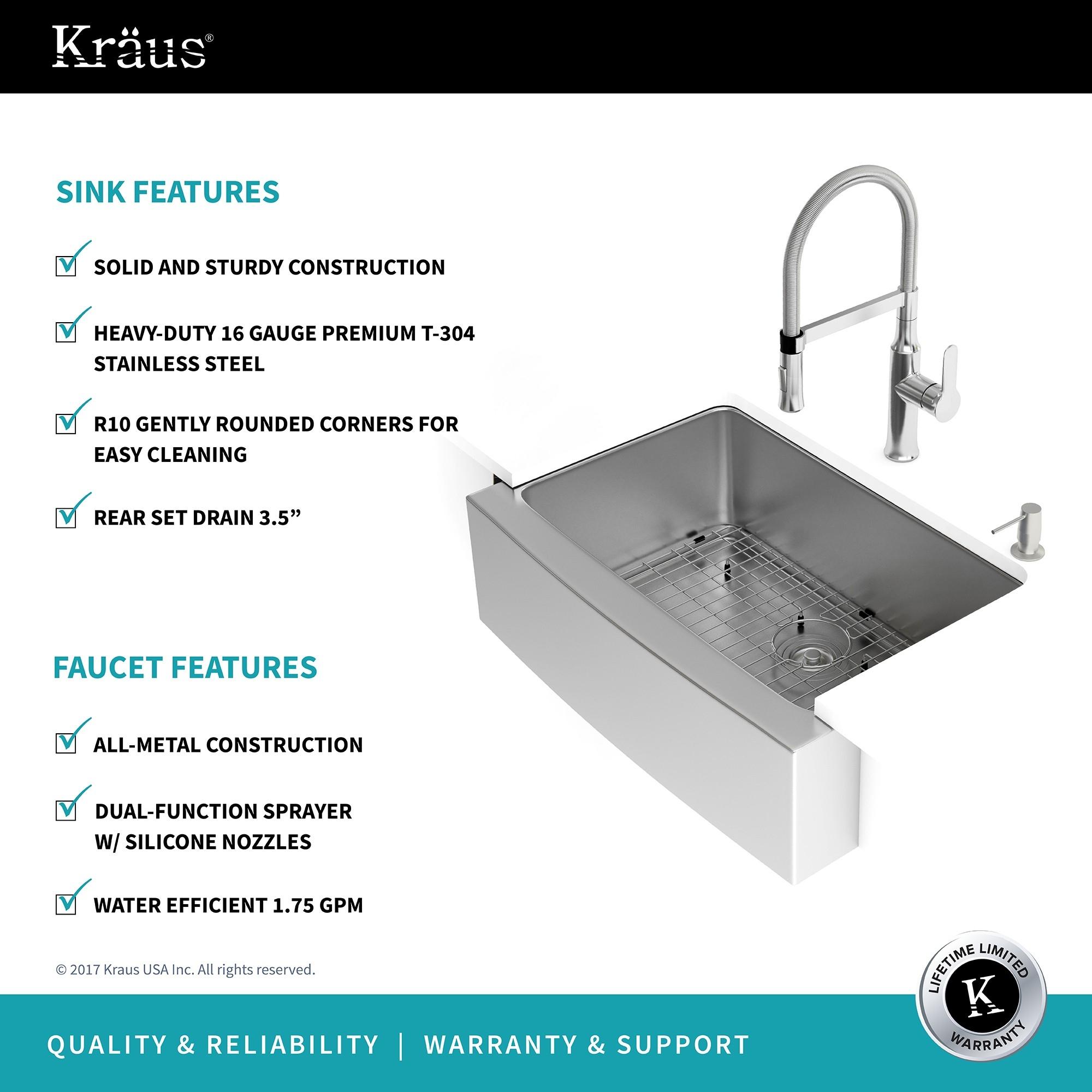 Ideas, stainless steel kitchen sink combination kraususa throughout size 2000 x 2000  .