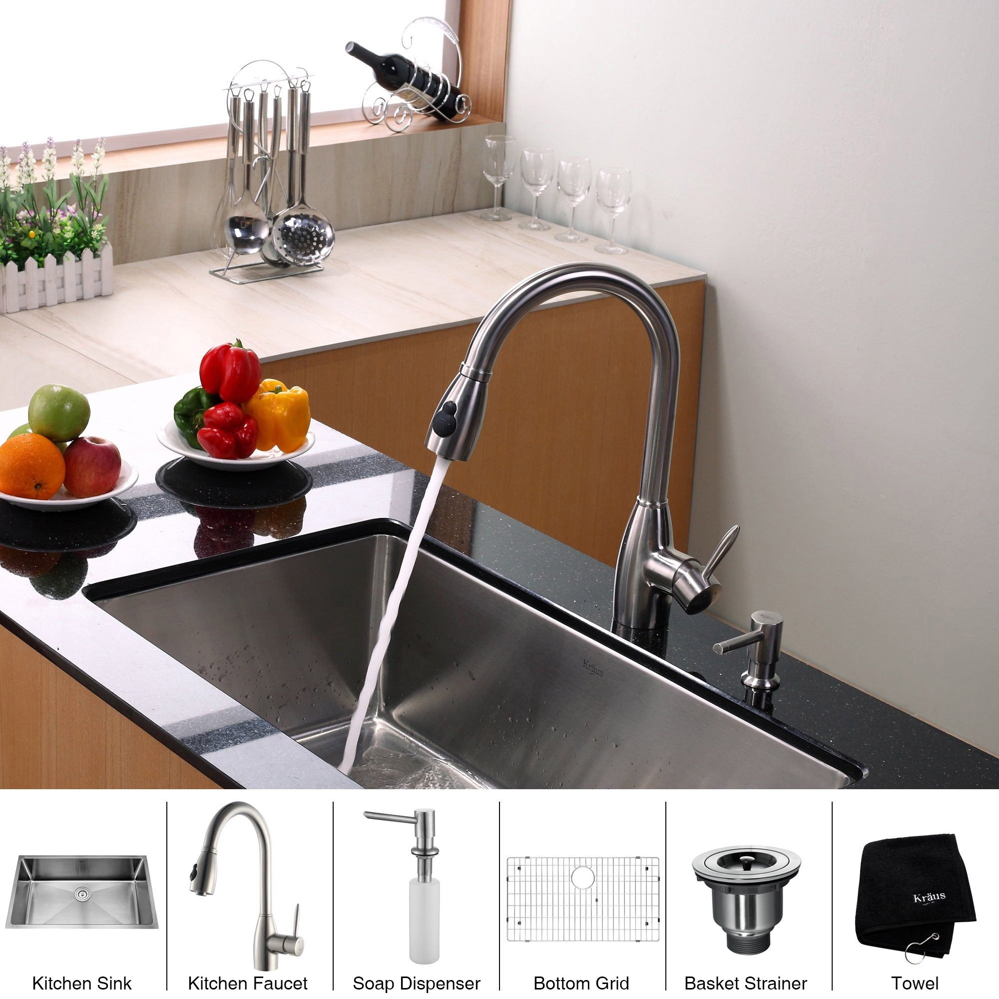 Ideas, stainless steel kitchen sink combination kraususa within proportions 2000 x 2000  .
