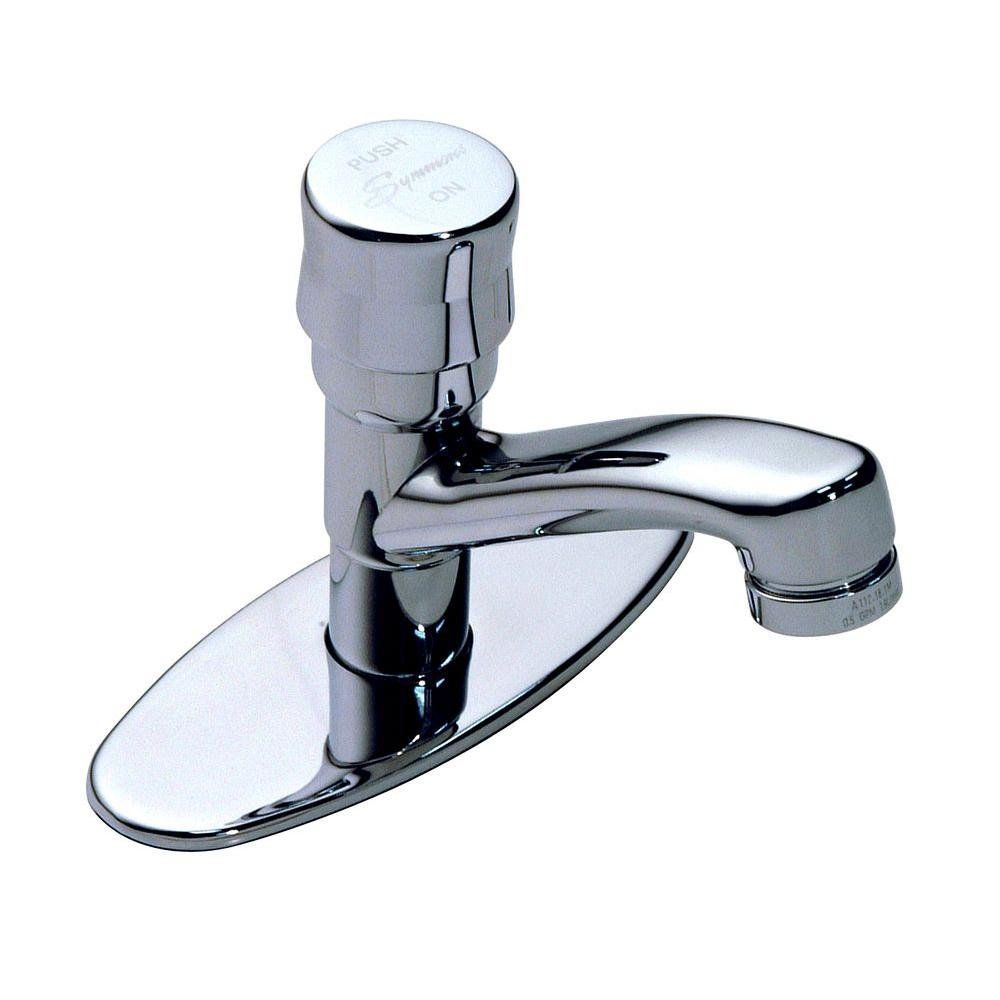 Ideas, symmons metering single hole 1 handle bathroom faucet in chrome with measurements 1000 x 1000  .