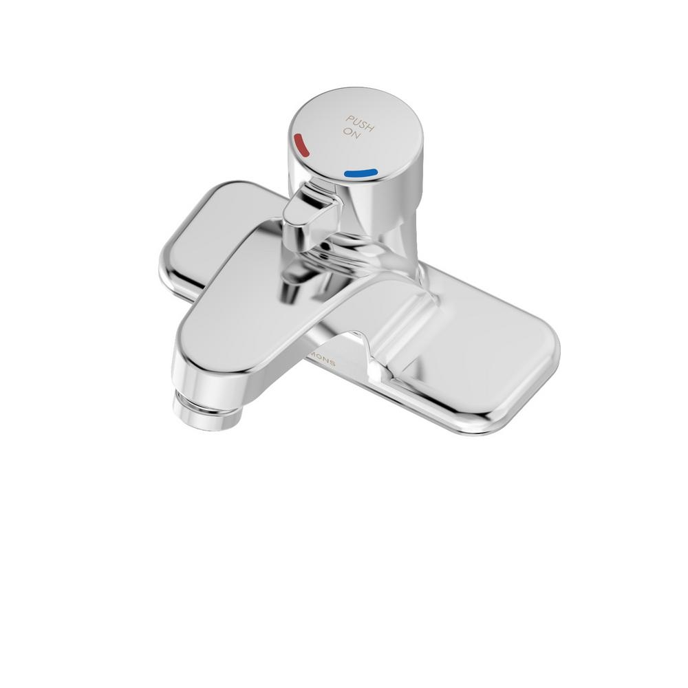 symmons origins 4 in centerset 1 handle bathroom faucet in chrome within proportions 1000 x 1000