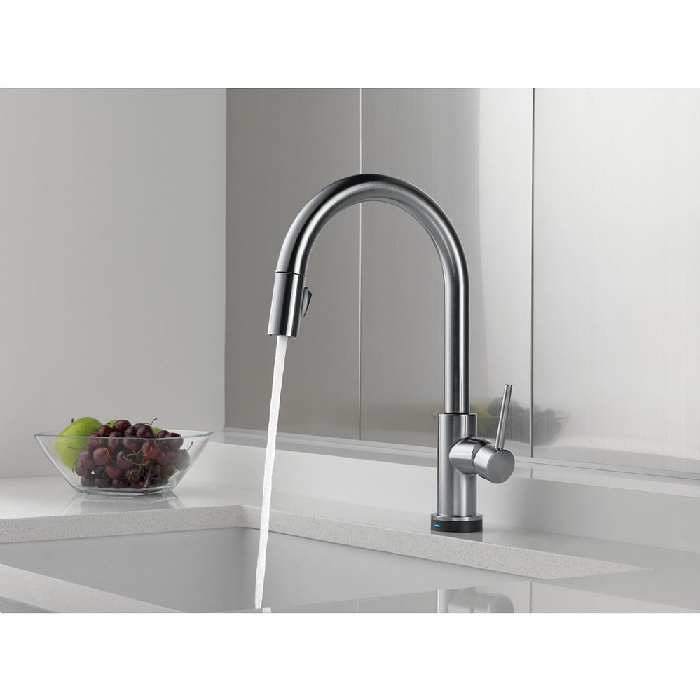 trinsic single handle pull down kitchen faucet featuring touch2o within sizing 999 x 999