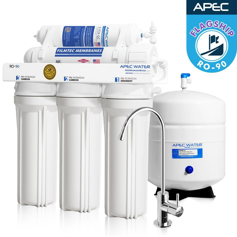 Ideas, under sink water filter uses existing faucet under sink water filter uses existing faucet apec water systems ultimate premium quality wqa certified 90 gpd 1000 x 1000  .