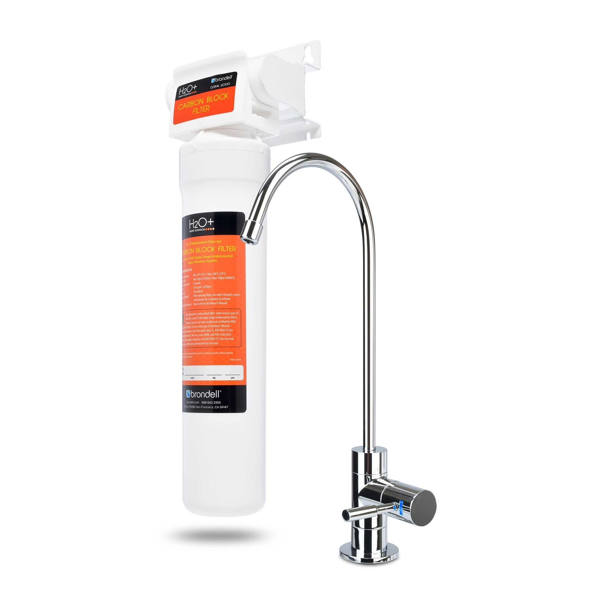 Ideas, under sink water filter uses existing faucet under sink water filter uses existing faucet coral uc300 three stage under counter water filter system brondell 2000 x 2000  .